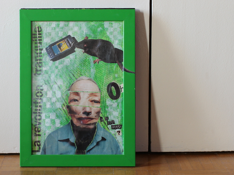 collages 2009 - revolution tranquille - mail art