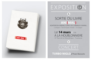 affiche-vernissage-livre-collages-animal-houblonniere-turbo-niglo-6col